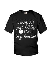 Teacher Work Out Youth T-Shirt thumbnail