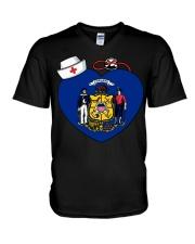 Nurse - National Nurse Week for Wisconsin V-Neck T-Shirt thumbnail