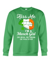 Kiss Me March Girl Whatever Crewneck Sweatshirt thumbnail
