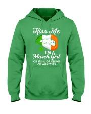 Kiss Me March Girl Whatever Hooded Sweatshirt thumbnail