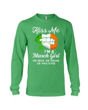 Kiss Me March Girl Whatever Long Sleeve Tee thumbnail
