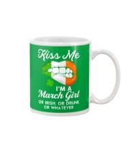 Kiss Me March Girl Whatever Mug thumbnail