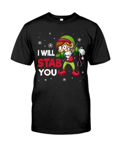 Nurse - I Will Stab You - ELF Christmas design