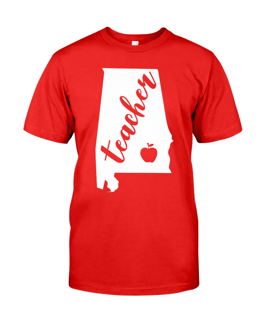 Alabama Teacher - Map Classic T-Shirt