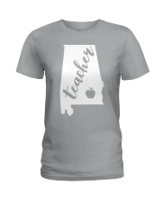 Alabama Teacher - Map Ladies T-Shirt thumbnail