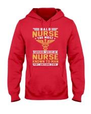 Bald Nurse - Superior Species of Nurse Hooded Sweatshirt front