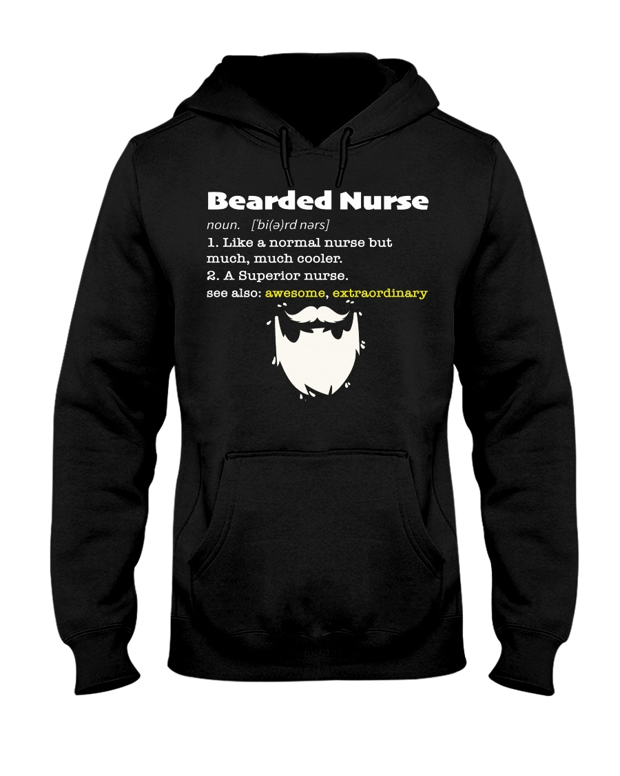 Bearded Nurse Hooded Sweatshirt