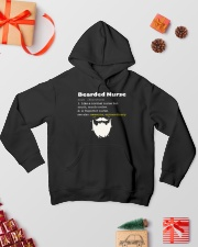 Bearded Nurse Hooded Sweatshirt lifestyle-holiday-hoodie-front-2