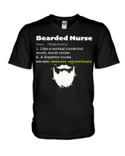 Bearded Nurse V-Neck T-Shirt thumbnail