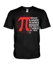Math Teacher - Your Problem is worth my time V-Neck T-Shirt thumbnail