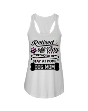 Retired  - Stay at Home Dog Mom Ladies Flowy Tank thumbnail