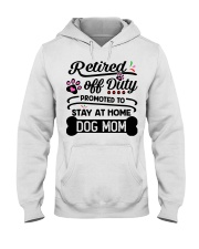 Retired  - Stay at Home Dog Mom Hooded Sweatshirt tile