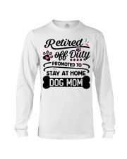 Retired  - Stay at Home Dog Mom Long Sleeve Tee tile