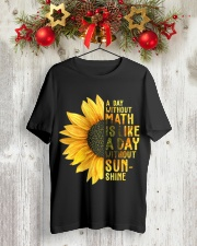 Math Teacher - A day without math Classic T-Shirt lifestyle-holiday-crewneck-front-2