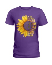 Math Teacher - A day without math Ladies T-Shirt thumbnail