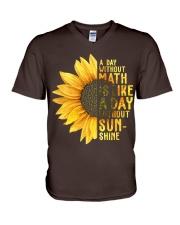 Math Teacher - A day without math V-Neck T-Shirt thumbnail