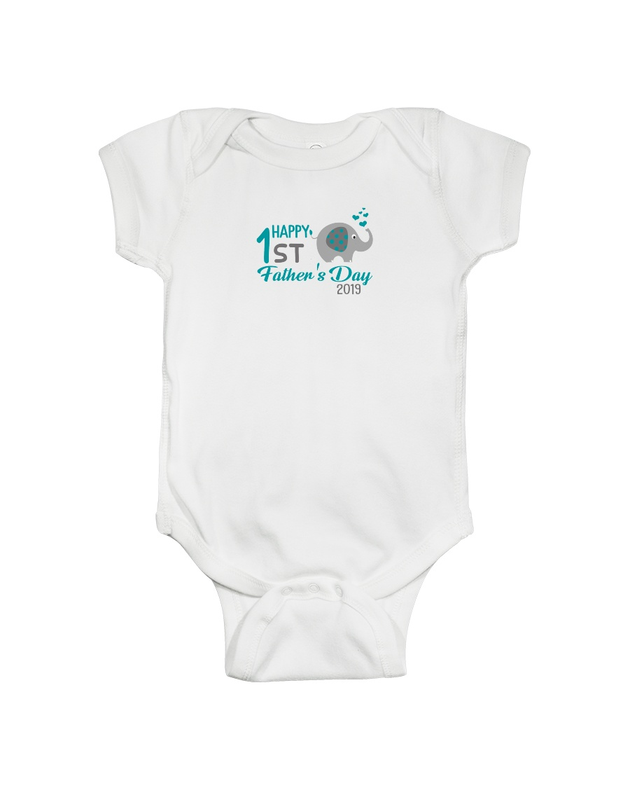 Happy First Grade Father's Day Onesie
