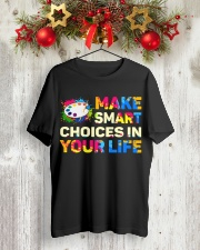 Art Teacher - Make smART choices in your life Classic T-Shirt lifestyle-holiday-crewneck-front-2