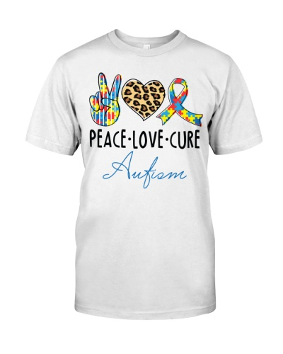 Autism - Peace - Love - Cure