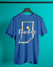 Indiana Teacher - Map Classic T-Shirt lifestyle-mens-crewneck-front-3