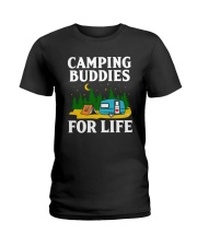 Camping Buddies For Life Ladies T-Shirt tile