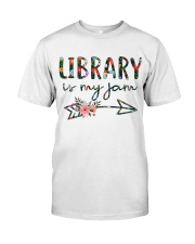 Library is My Jam Classic T-Shirt front