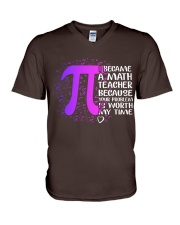 Math Teacher - Your Problem is worth my time V-Neck T-Shirt thumbnail