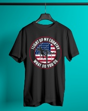 Lineman - I Light up My Country Classic T-Shirt lifestyle-mens-crewneck-front-3