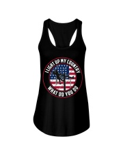 Lineman - I Light up My Country Ladies Flowy Tank thumbnail