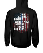 Camping - American Flag Hooded Sweatshirt thumbnail