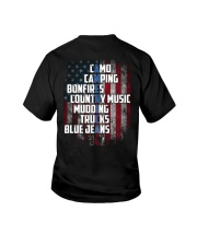 Camping - American Flag Youth T-Shirt thumbnail