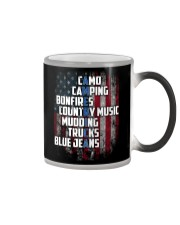 Camping - American Flag Color Changing Mug tile