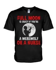 Nurse - Full Moon V-Neck T-Shirt thumbnail