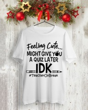Teacher - Give you a Quiz Classic T-Shirt lifestyle-holiday-crewneck-front-2