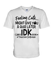 Teacher - Give you a Quiz V-Neck T-Shirt thumbnail