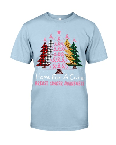 Breast Cancer - Hope for a Cure - Christmas Shirt