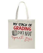 Teacher - Stack of grading Tote Bag thumbnail