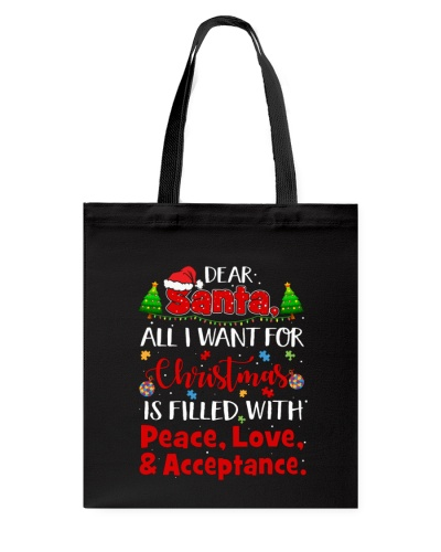 Autism - Christmas - Peace - Love - Acceptance