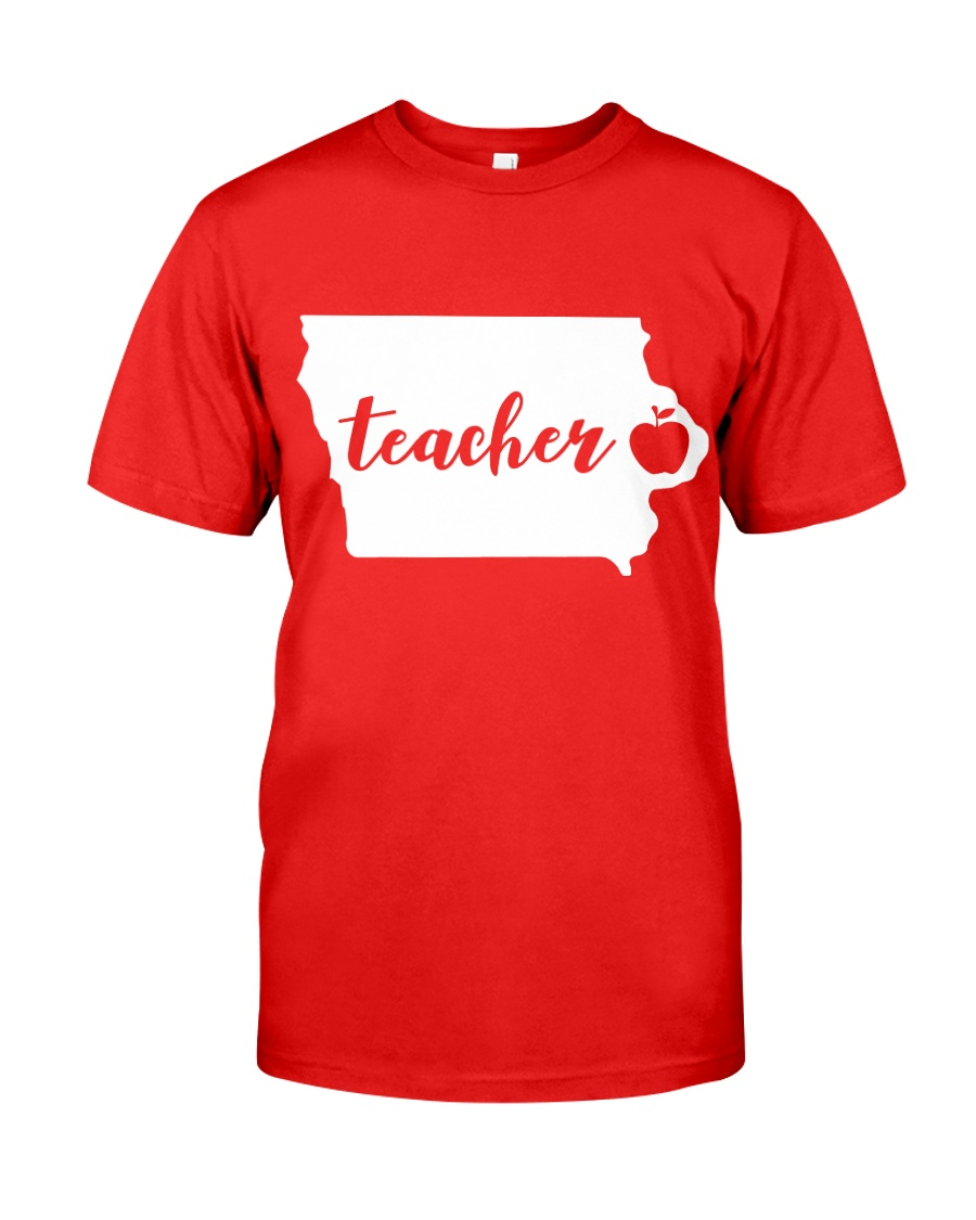 Iowa Teacher - Map Classic T-Shirt