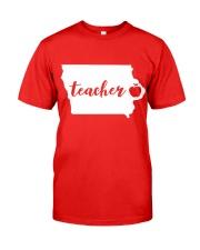 Iowa Teacher - Map Classic T-Shirt front