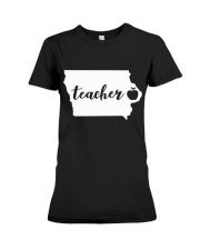 Iowa Teacher - Map Premium Fit Ladies Tee thumbnail