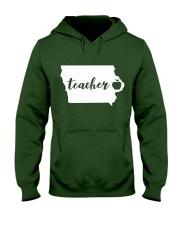 Iowa Teacher - Map Hooded Sweatshirt thumbnail