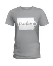 Iowa Teacher - Map Ladies T-Shirt thumbnail