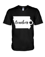 Iowa Teacher - Map V-Neck T-Shirt thumbnail