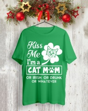 Kiss me I'm a Cat Mom Classic T-Shirt lifestyle-holiday-crewneck-front-2