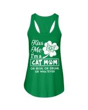 Kiss me I'm a Cat Mom Ladies Flowy Tank thumbnail