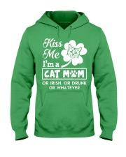 Kiss me I'm a Cat Mom Hooded Sweatshirt thumbnail