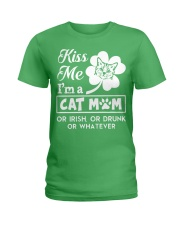 Kiss me I'm a Cat Mom Ladies T-Shirt thumbnail