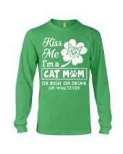 Kiss me I'm a Cat Mom Long Sleeve Tee thumbnail