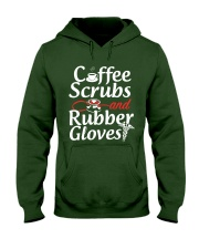Nurse - Coffee Scrubbs and Rubber Gloves  Hooded Sweatshirt thumbnail